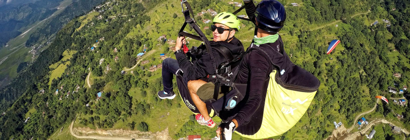 Paragliding in the Himalayas