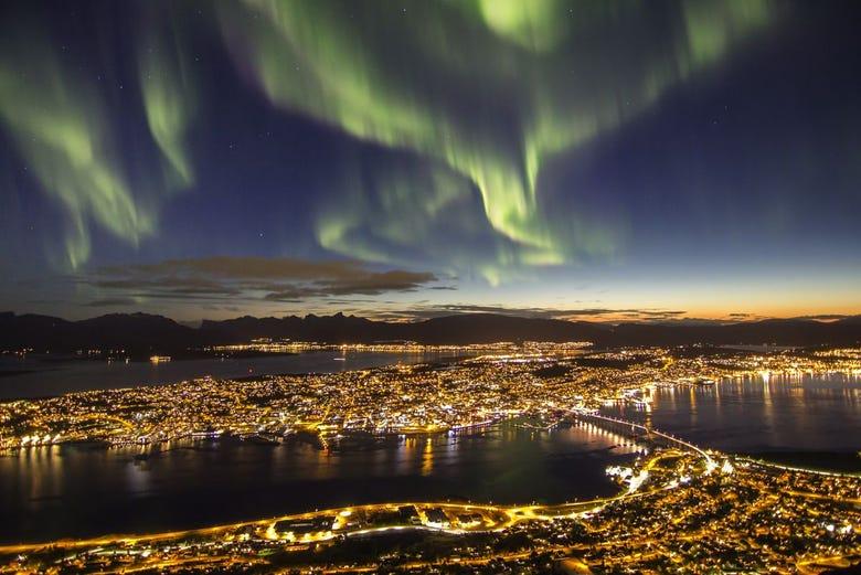 ,Aurora Boreal en Tromso