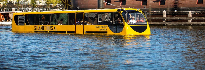 Tour de ônibus anfíbio por Amsterdam