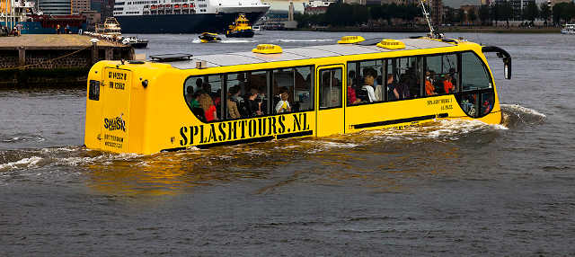 Tour en autobús anfibio por Róterdam