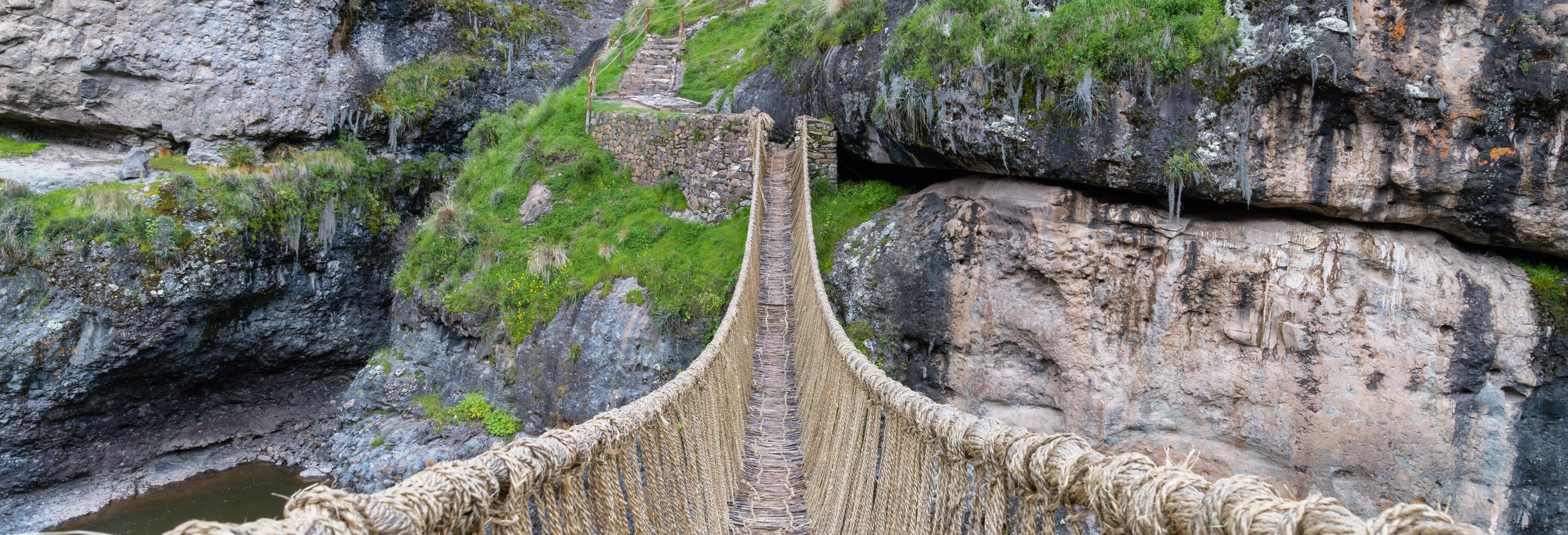 Excursion au pont Inca de Q'eswachaka