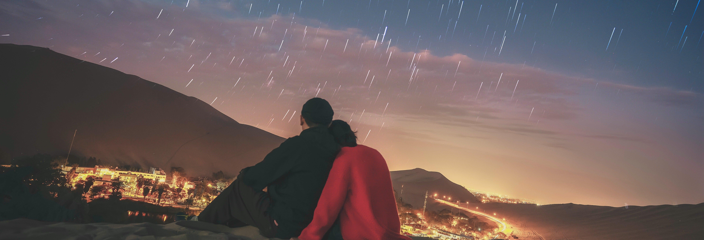 Noche en el desierto de Ica