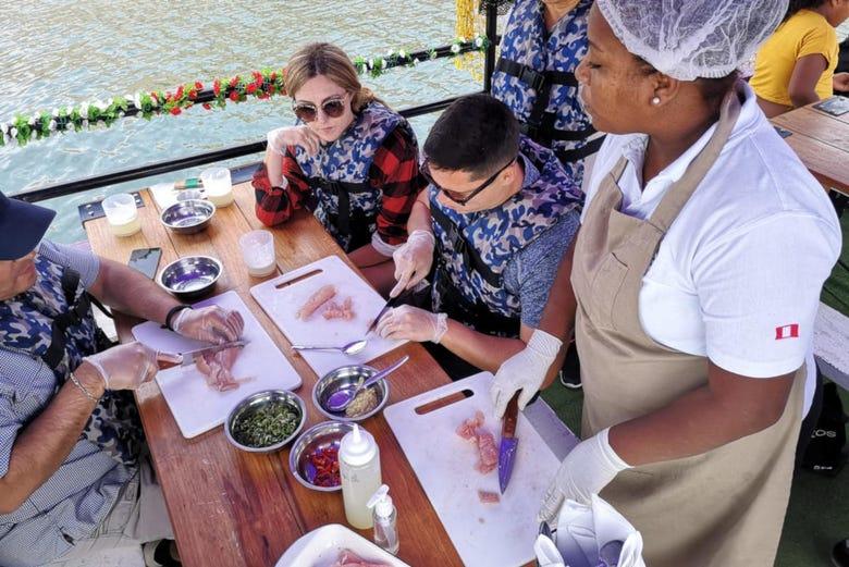 Pêche + Cours de cuisine péruvienne
