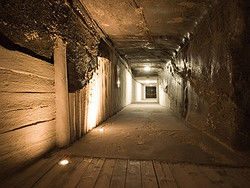 Entrando nas minas de sal