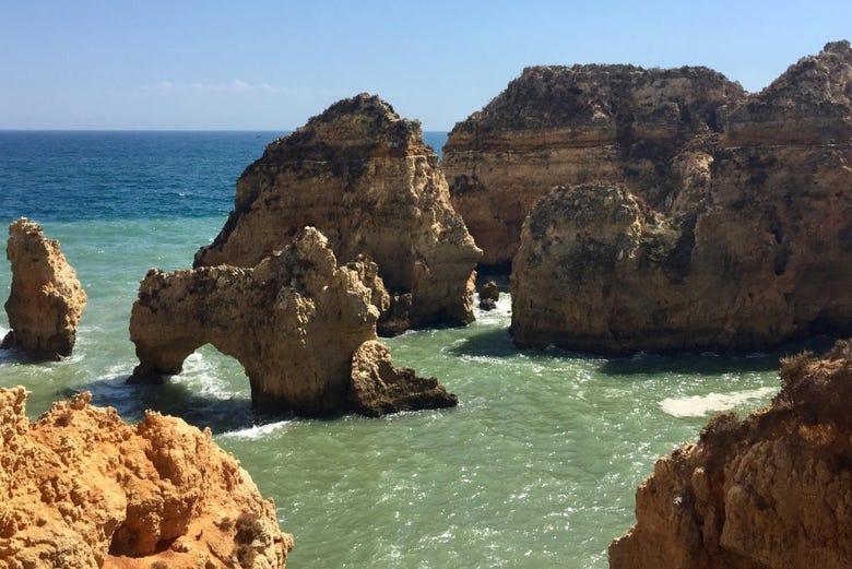 Balade en bateau aux grottes de Ponta da Piedade