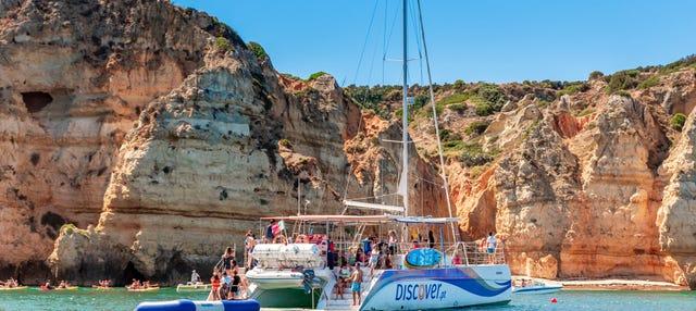 Balade en catamaran à Praia da Luz