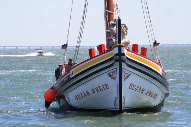 Balade en bateau traditionnel à Lisbonne