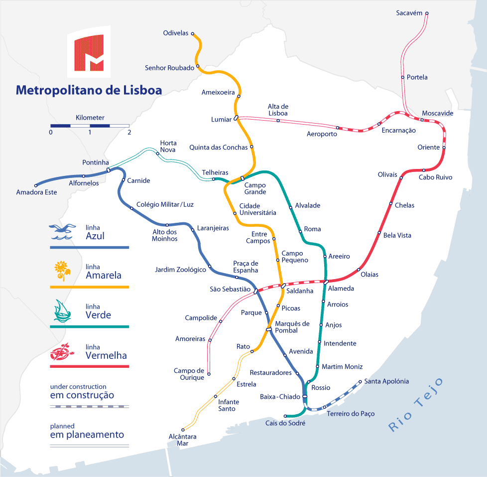 Subway Map Holiday.Lisbon Metro The Fastest Way To Get Around Lisbon