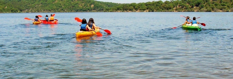 Tour en kayak por la Albufera del Azibo