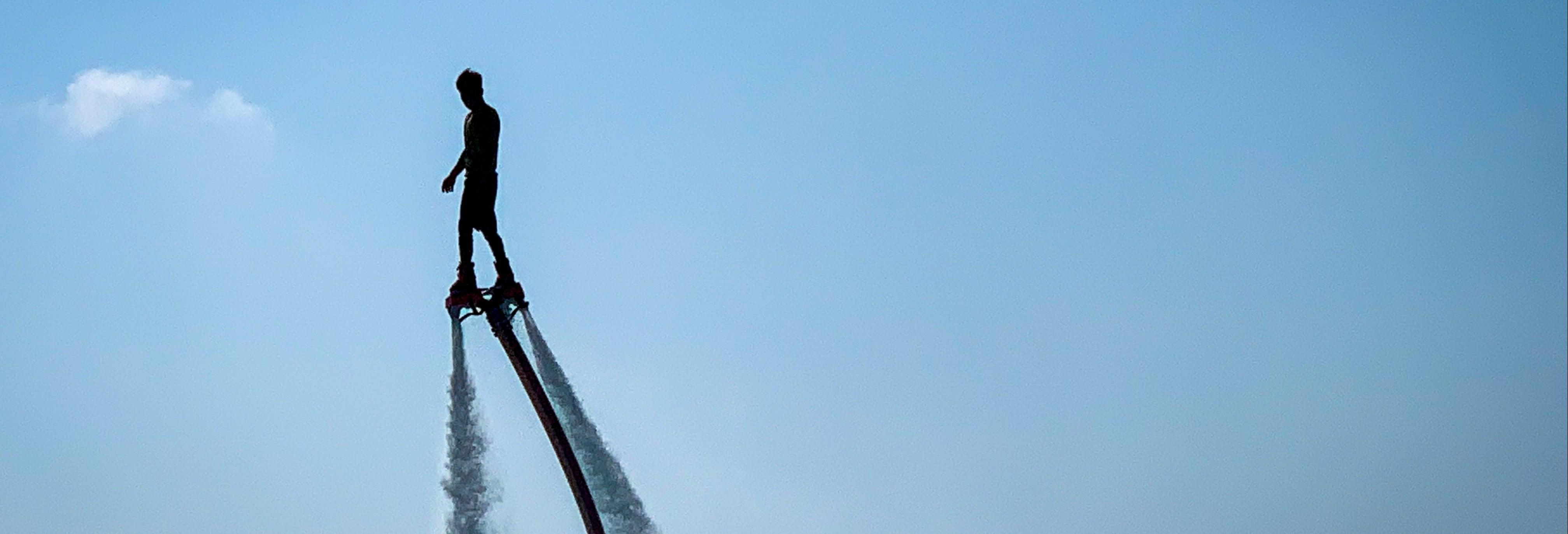 Flyboarding in Nazare