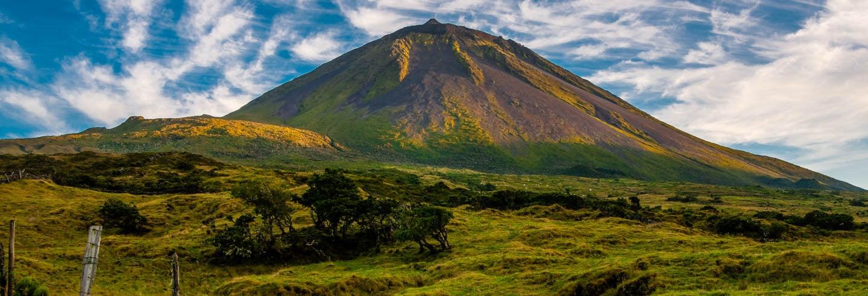 Trilha pelo vulcão do Pico