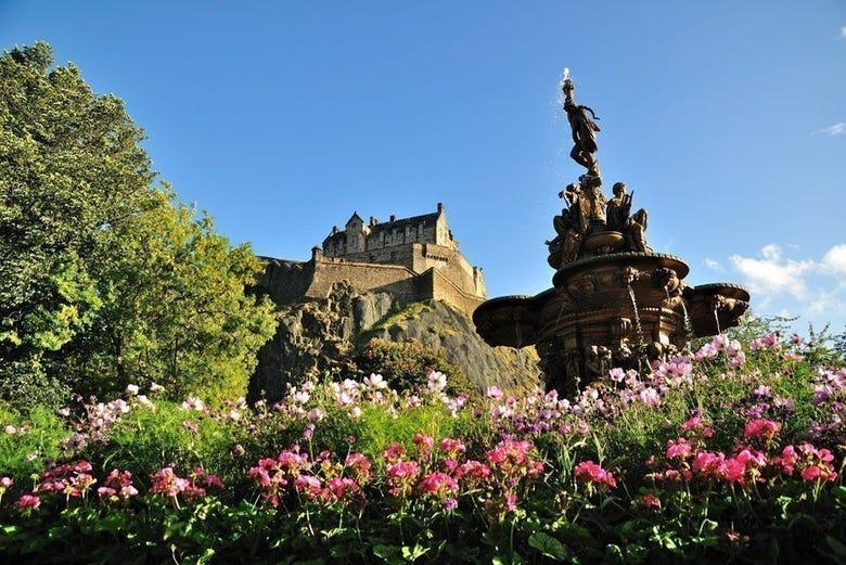 Castillo desde los jardines de Princes Street