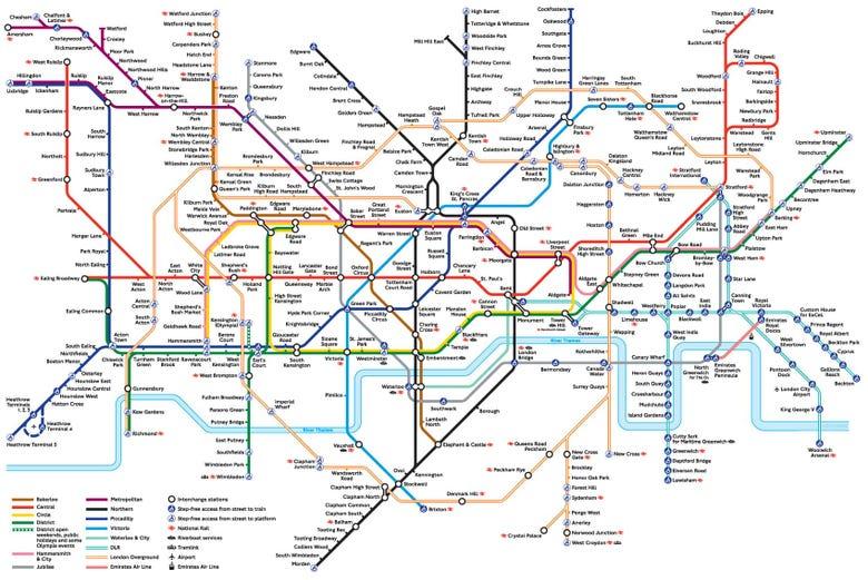Metropolitana Di Londra Cartina.Metro Di Londra Linee Orario E Tariffe Della Metropolitana