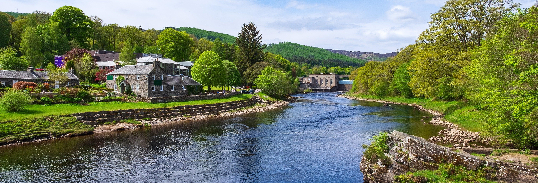Bugging en el río Tummel