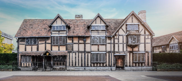 Entrada a la casa natal de William Shakespeare