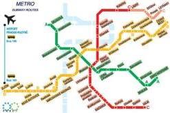 Mappa della metro di Praga