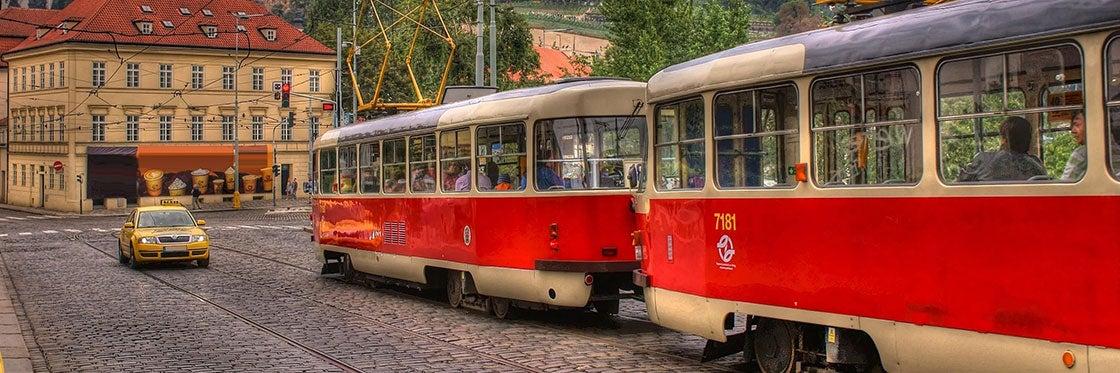 Tranvías en Praga