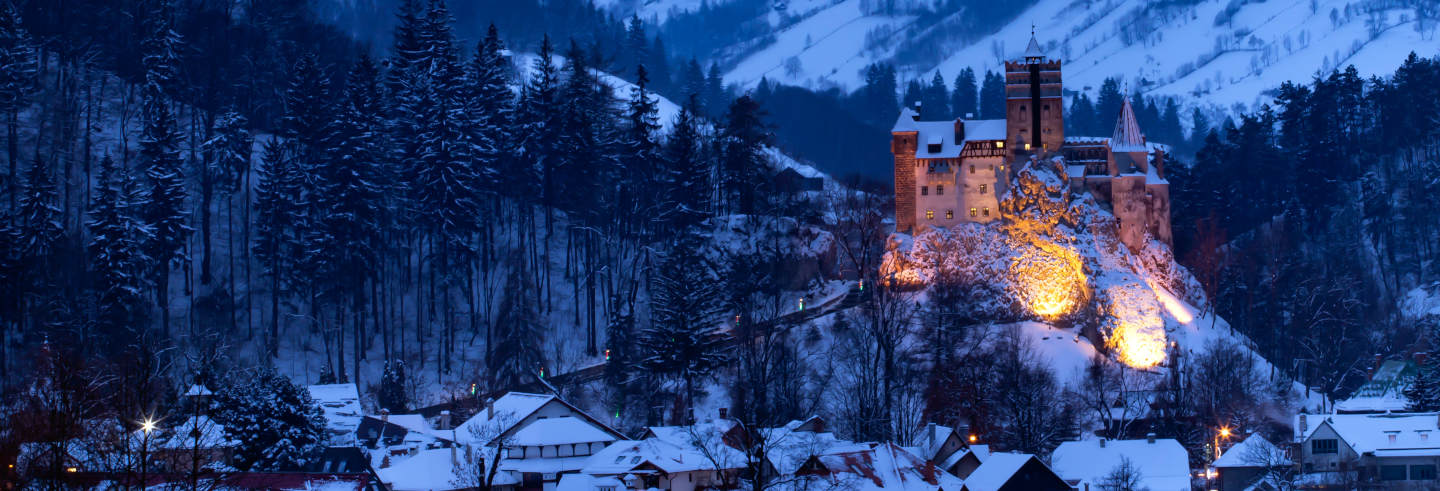 Dracula's Castle by Night