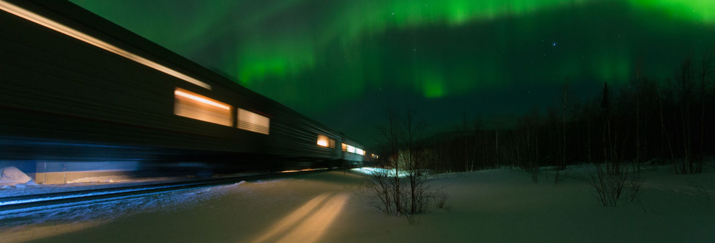 Circuito de trem pelo norte da Rússia