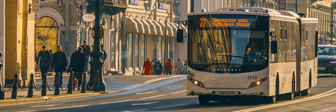 Autobuses en San Petersburgo