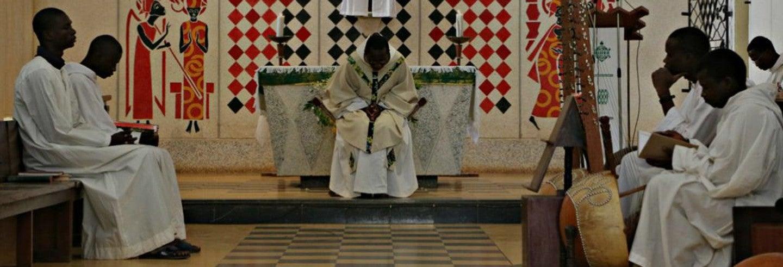 Messe à l'abbaye de Keur Moussa