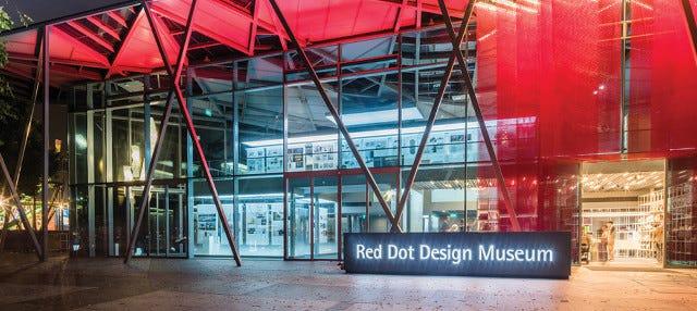 Entrada al Museo del diseño Red Dot
