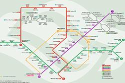 Mappa della MRT di Singapore