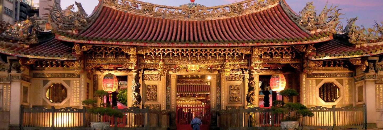 Free tour noturno pelo Templo Longshan. Grátis!