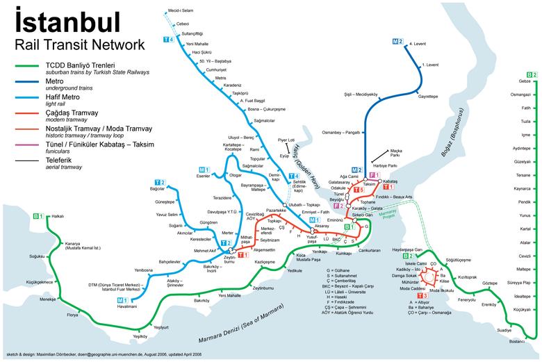 Resultado de imagen de mapa del tranvia de estambul