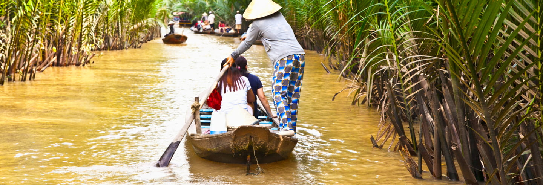 Excursão completa ao delta do rio Mekong