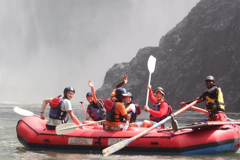 Rafting en el río Zambeze, cataratas Victoria, Livingstone